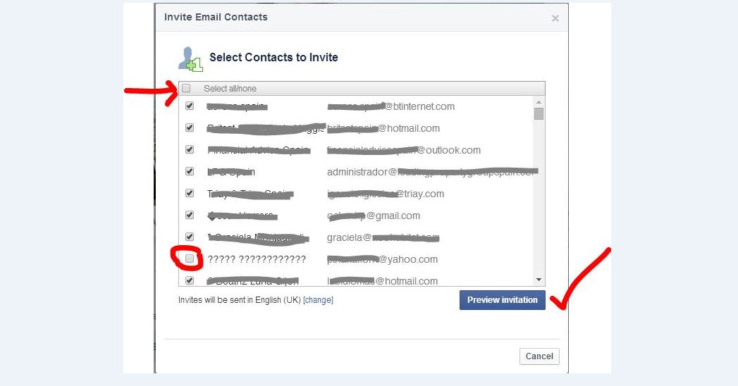 How to Invite Linkedin connections to Like Facebook page 2