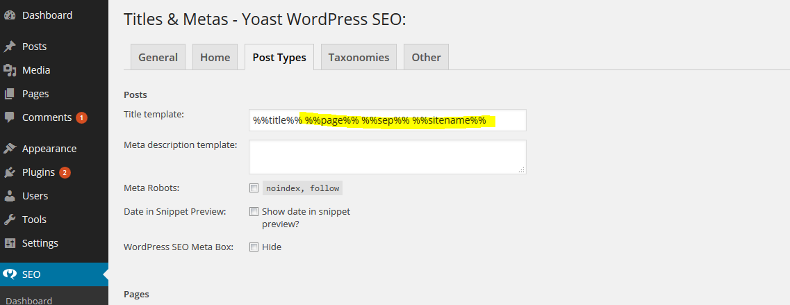How to remove default site name from post SEO titles on Yoast