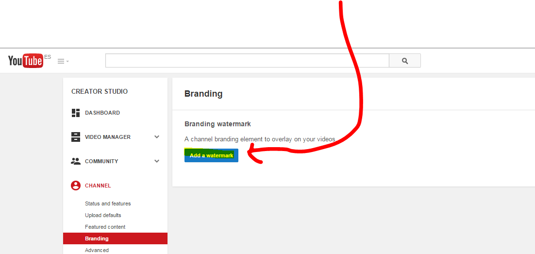 How to get a YouTube Logo watermar